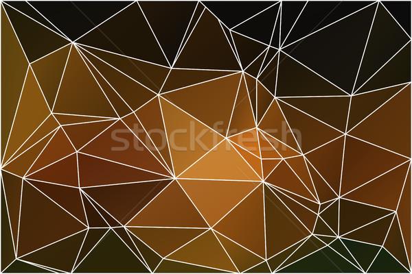 Fekete narancs citromsárga mértani háló absztrakt Stock fotó © TasiPas