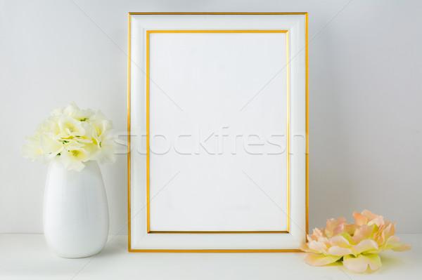 Keret vázlat elefántcsont poszter termék terv Stock fotó © TasiPas