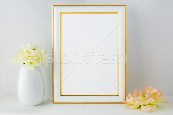 Frame ivoor poster product ontwerp Stockfoto © TasiPas