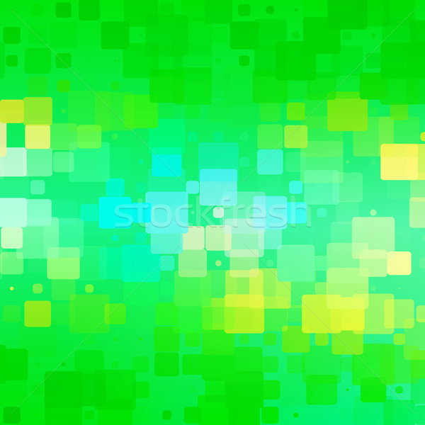 Green teal blue yellow glowing rounded tiles background  Stock photo © TasiPas
