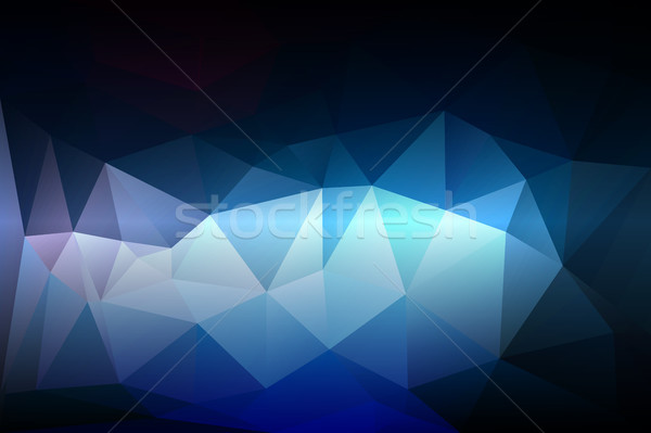Deep and pale blue low poly background Stock photo © TasiPas