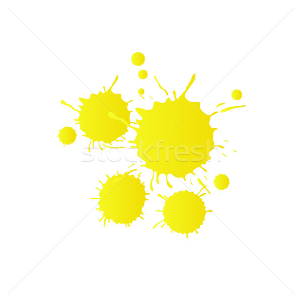 Licht Geel aquarel verf druppels levendig Stockfoto © TasiPas