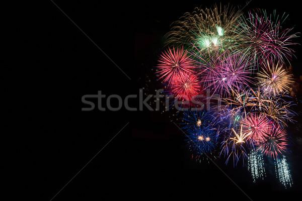 Celebration sparkling fireworks, copy space Stock photo © TasiPas