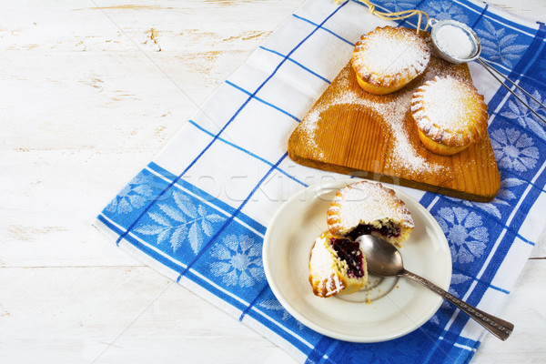 Stock photo: Small dessert pie on the white plate