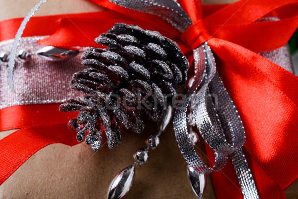Natal dom decoração prata cone Foto stock © TasiPas