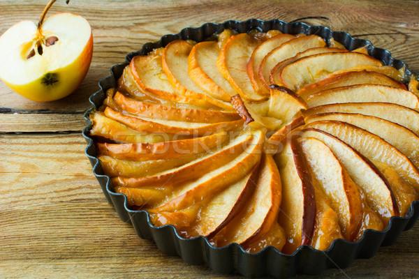 Fatto in casa torta di mele frutta dessert crostata Foto d'archivio © TasiPas