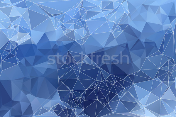 Blady niebieski streszczenie niski geometryczny biały Zdjęcia stock © TasiPas