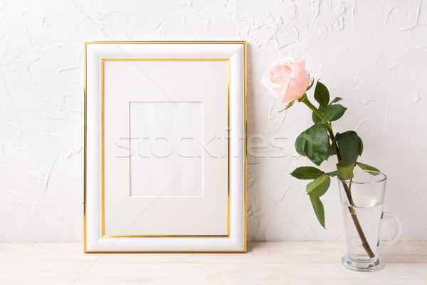 Oro decorato frame tenero Foto d'archivio © TasiPas