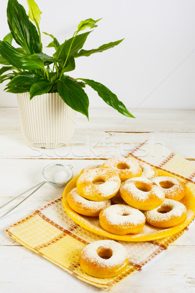 Homemade donuts with caster sugar Stock photo © TasiPas