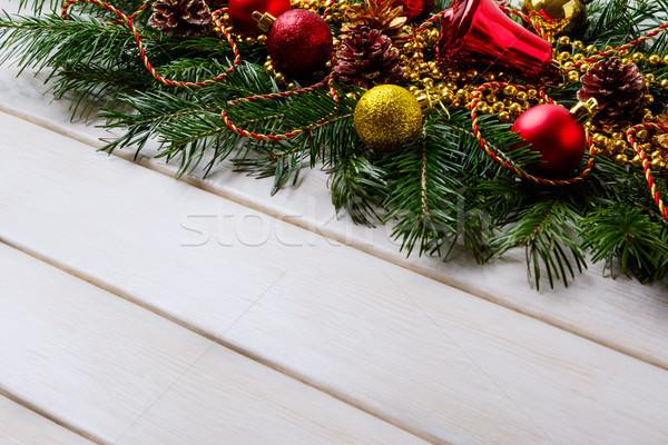 Сток-фото: Рождества · красный · украшения · вечеринка · украшение