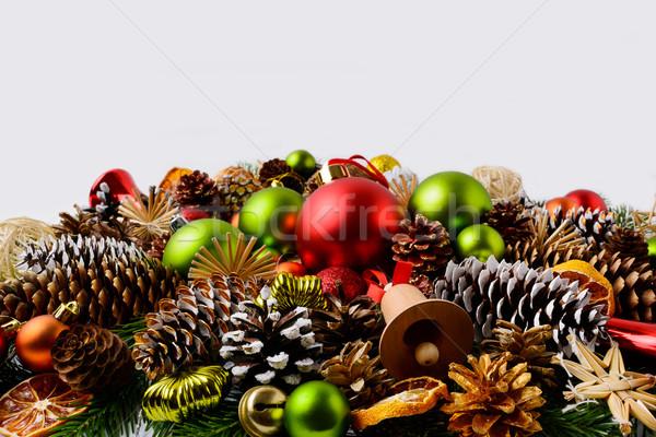 Traditioneel christmas ornamenten pine Stockfoto © TasiPas