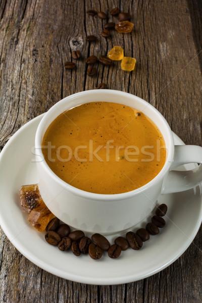 コーヒー 木製 コーヒーカップ カップ 強い ストックフォト © TasiPas