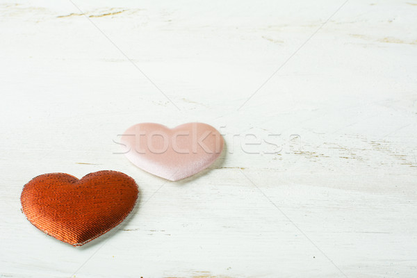 Red and pink silk hearts  Stock photo © TasiPas