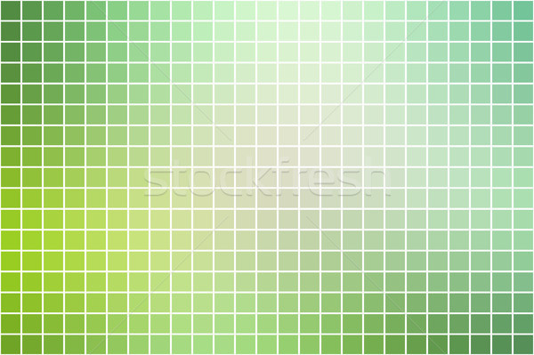 Light green shades square mosaic background over white   Stock photo © TasiPas