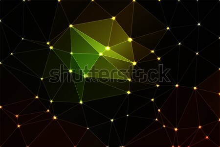 Purple brown black geometric background with mesh and lights Stock photo © TasiPas