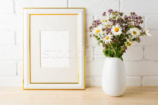 Quadro flores silvestres buquê retrato cartaz Foto stock © TasiPas