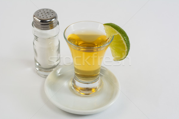 Tequila cal blanco tiro oro mexicano Foto stock © TasiPas