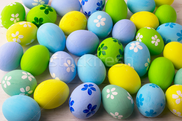 Pastel colored Easter eggs background  Stock photo © TasiPas