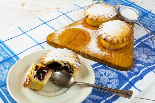 Stock photo: Jam dessert pie on the white plate