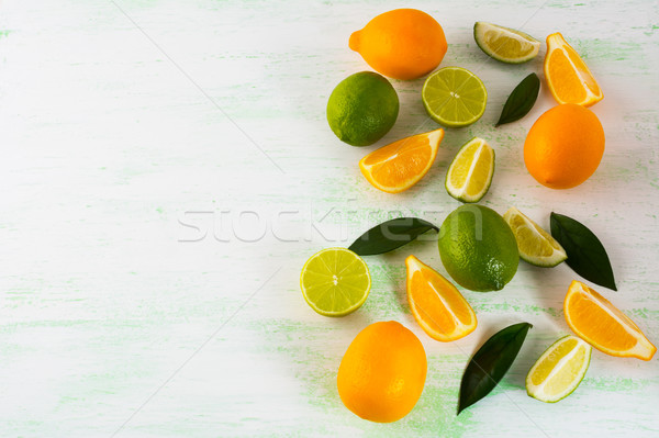 レモン 薄緑 コピースペース 黒 生鮮食品 ストックフォト © TasiPas