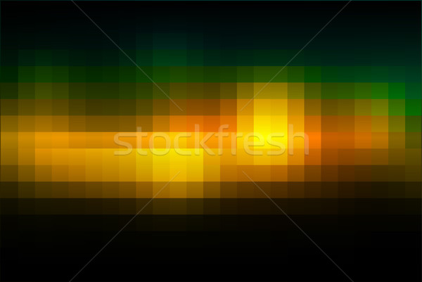 Brown orange green mosaic square tiles background  Stock photo © TasiPas
