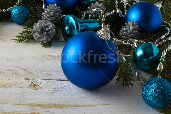 Christmas ornament Blauw Stockfoto © TasiPas