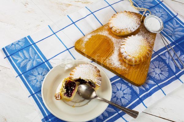 Stock photo: Small sweet pie with jam