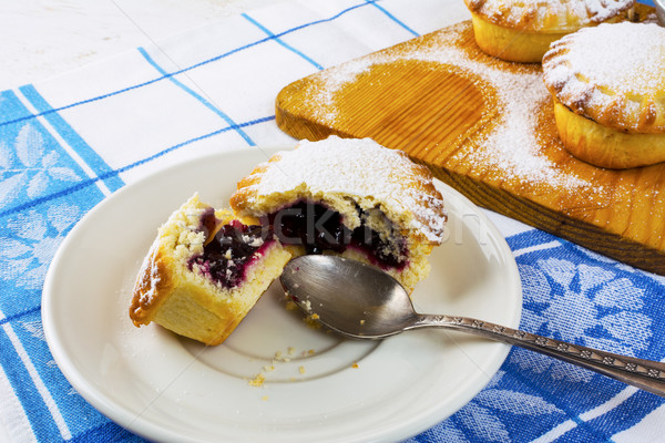 Stock photo: Small pie on the white plate