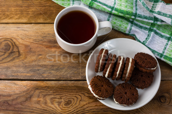 Stockfoto: Chocolade · top · zoete · dessert