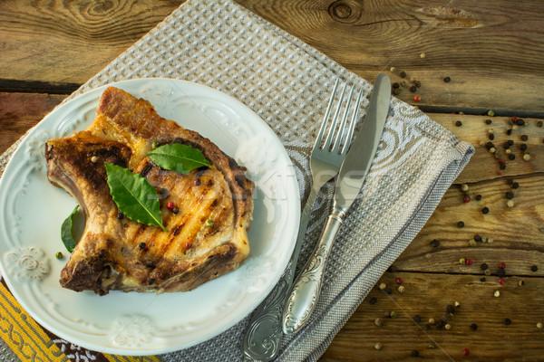 chop on a plate Stock photo © TasiPas