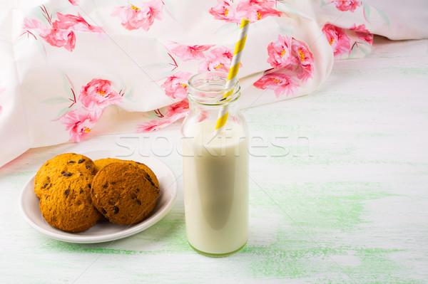 Caseiro bolinhos leite café da manhã doce Foto stock © TasiPas