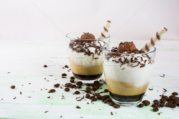 Coffee cocktail in glasses  Stock photo © TasiPas