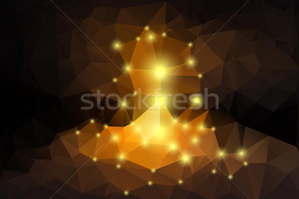 geometric background with lights Stock photo © TasiPas