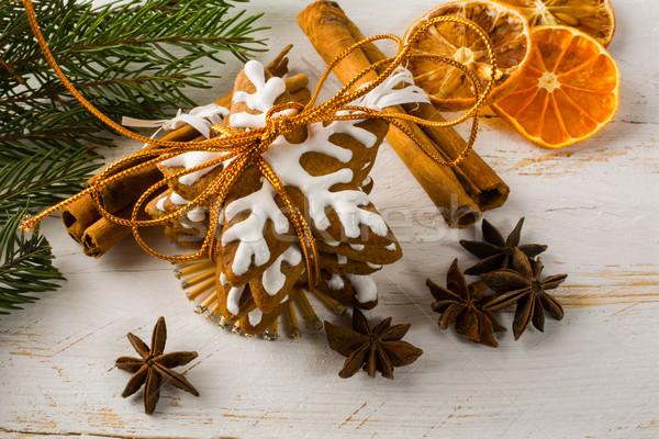Рождества пряничный корицей Cookies анис фрукты Сток-фото © TasiPas