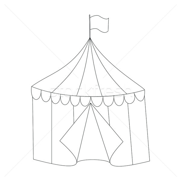Striped vector circus tent doodle style Stock photo © TasiPas