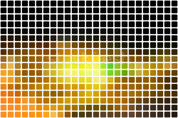Black brown yellow green abstract rounded mosaic background over Stock photo © TasiPas
