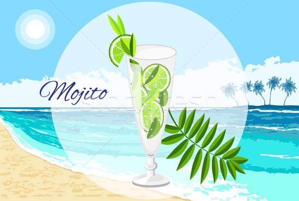 Mojito cocktail vettore cartoon stile Foto d'archivio © TasiPas