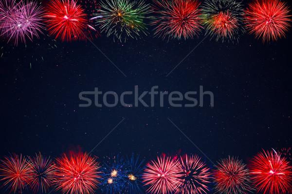 кадр красивой празднования красный Purple Сток-фото © TasiPas