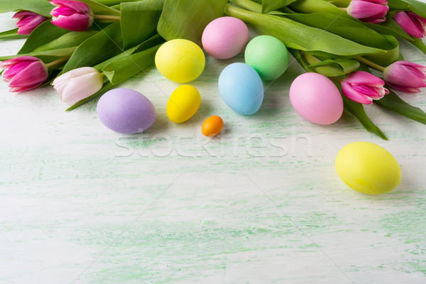 Easter background with holiday symbol Stock photo © TasiPas
