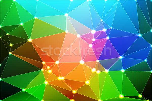 Rózsaszín zöld kék mértani háló fények Stock fotó © TasiPas