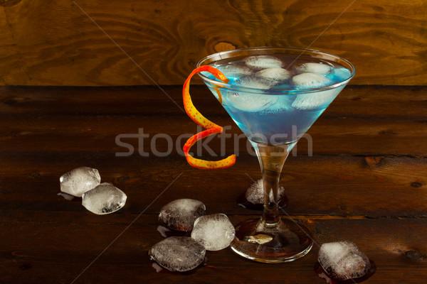 синий Martini коктейль темно ликер Сток-фото © TasiPas