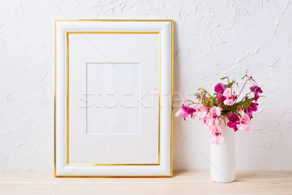 Сток-фото: золото · украшенный · кадр · розовый