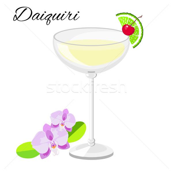 Daiquiri cocktail  isolated on white  Stock photo © TasiPas