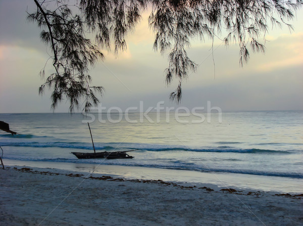 Sky before sunrise on sea beach  Stock photo © TasiPas