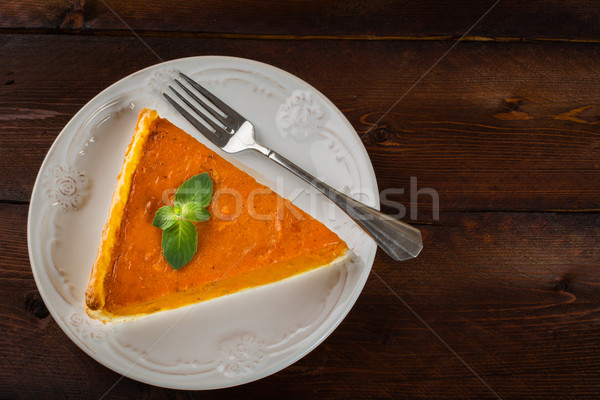 Pumpkin pie copyspace Stock photo © TasiPas