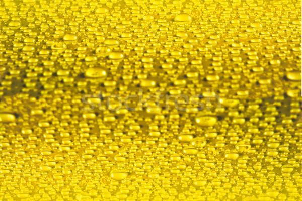 желтый капли текстуры капли воды фон дождь Сток-фото © TasiPas