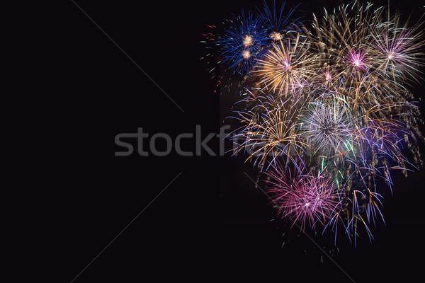 Bella celebrazione viola fuochi d'artificio Foto d'archivio © TasiPas