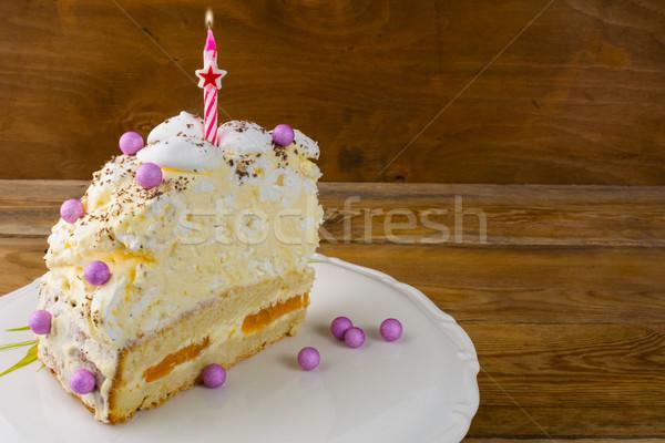 именинный торт сжигание свечей торт рождения Сток-фото © TasiPas