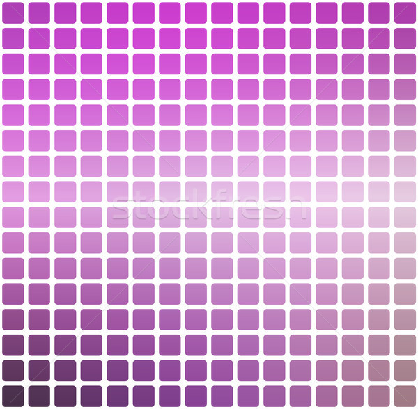 Purple green pink rounded mosaic background over white square Stock photo © TasiPas