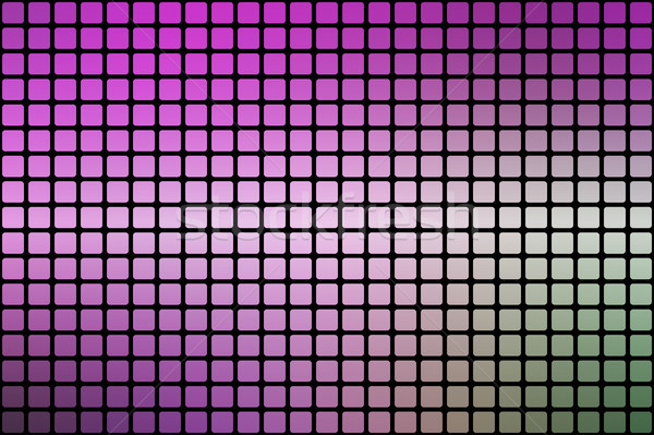 Purple green pink abstract rounded mosaic background over black Stock photo © TasiPas